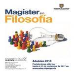 Imagen Abiertas Postulaciones a Magíster en Filosofía (Admisión 2018)