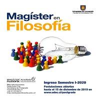 Imagen Abiertas Postulaciones a Magíster en Filosofía (Ingreso 2020)